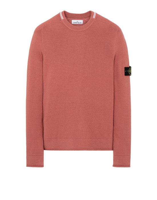 STONE ISLAND 513A3 Sweater Man Rust
