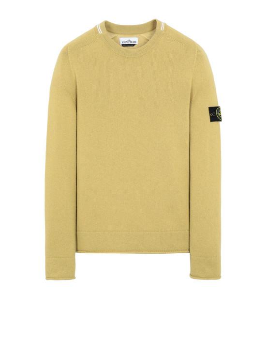 STONE ISLAND 513A3 Sweater Man Mustard
