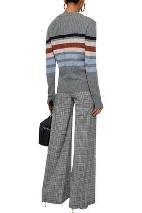 MARKUS LUPFER Mia striped ribbed merino wool sweater