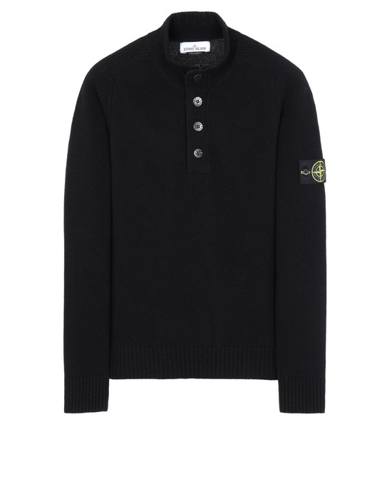 STONE ISLAND 532A3 Sweater Man Black