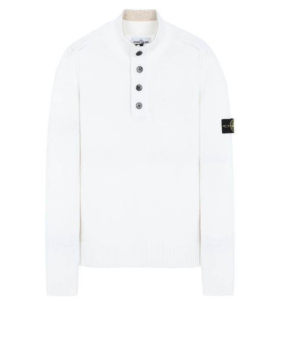 STONE ISLAND 532A3 Sweater Man Natural White