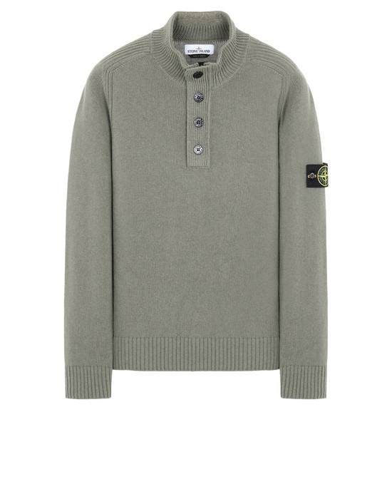 STONE ISLAND 532A3 Sweater Man Military Green