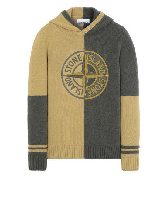 STONE ISLAND 509B7 Sweater Man Mustard