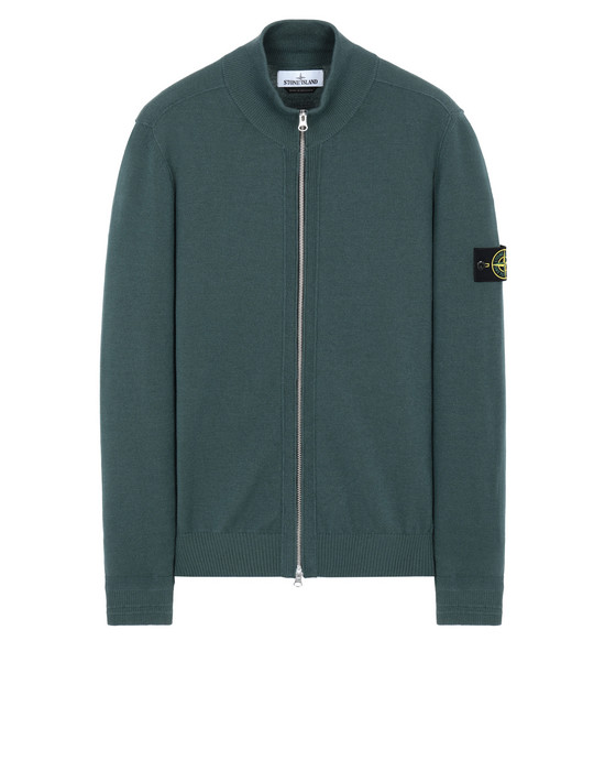 STONE ISLAND 590A1 Cardigan Man Dark Teal Green
