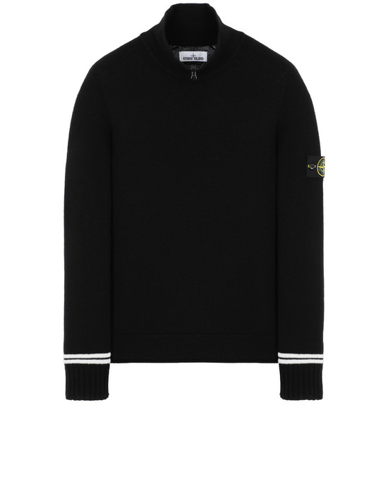STONE ISLAND 511A3 Sweater Man Black