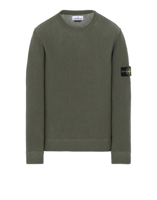 STONE ISLAND 556A5 Crewneck sweater Man Olive Green