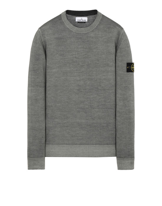 STONE ISLAND 572A8 FAST DYE + AIR BRUSH Sweater Man Mud