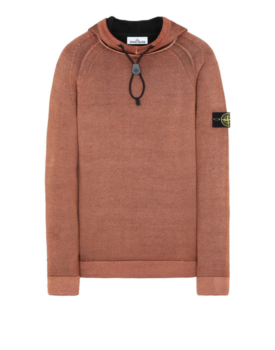 STONE ISLAND 573A8 FAST DYE + AIR BRUSH Sweater Man Orange