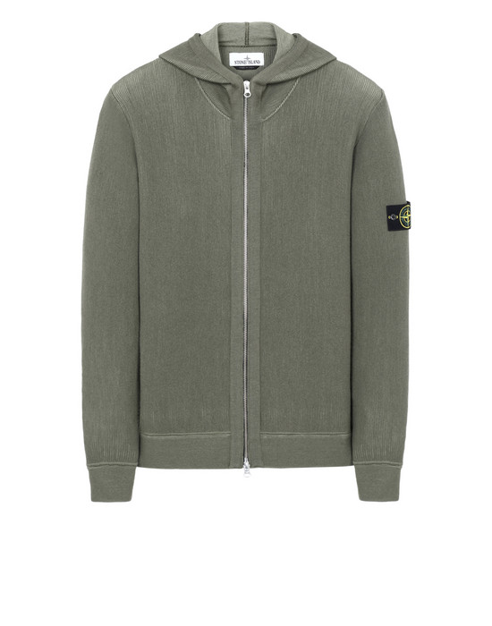 STONE ISLAND 555A5 Sweater Man Olive Green