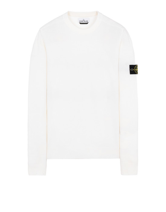 STONE ISLAND 591A1 Sweater Man Natural White