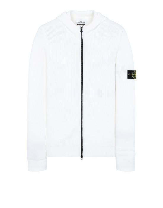 STONE ISLAND 582A1 Sweater Man Natural White