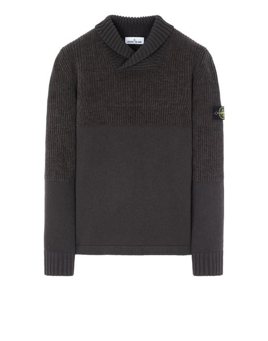STONE ISLAND 521B8 Sweater Man Dark Brown