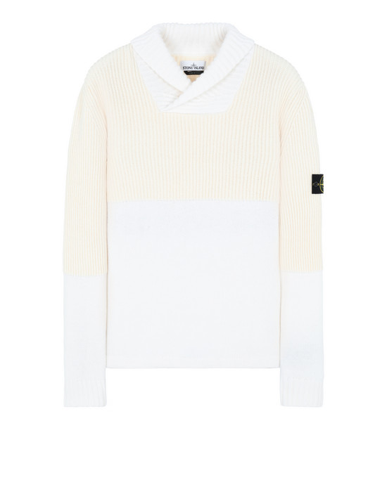STONE ISLAND 521B8 Sweater Man Ivory