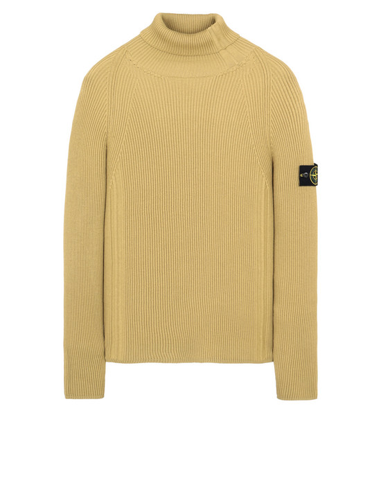 STONE ISLAND 542C2 High neck Man Mustard