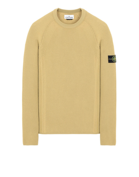 STONE ISLAND 516C2 Sweater Man Mustard