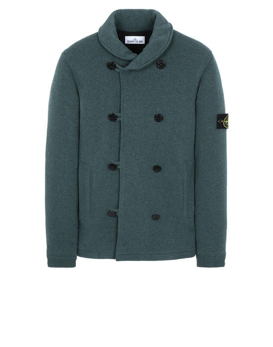 STONE ISLAND 559A9 PEACOAT KNIT WITH PRIMALOFT® PADDING Sweater Man Dark Teal Green