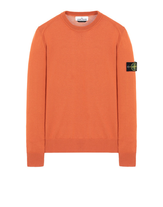 STONE ISLAND 524C4 Sweater Man Orange