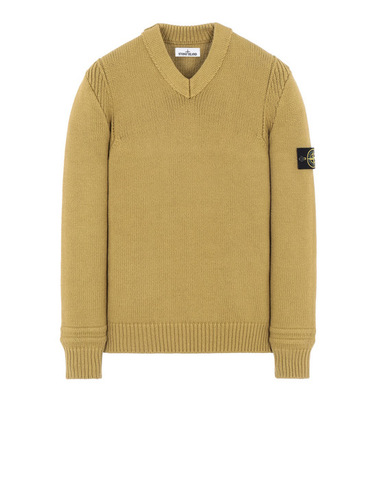 STONE ISLAND 527A2 Sweater Man Mustard