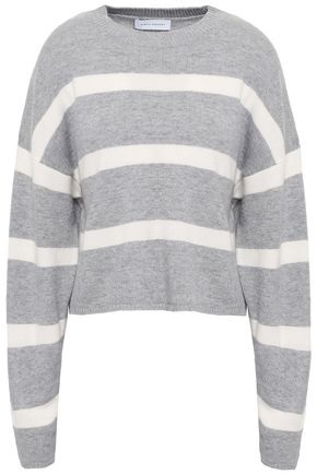 NINETY PERCENT Striped merino wool and cashmere-blend sweater