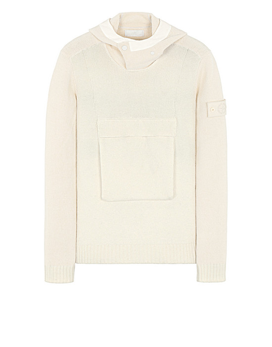 Sold out - STONE ISLAND 593FA GHOST PIECE Sweater Man Natural White