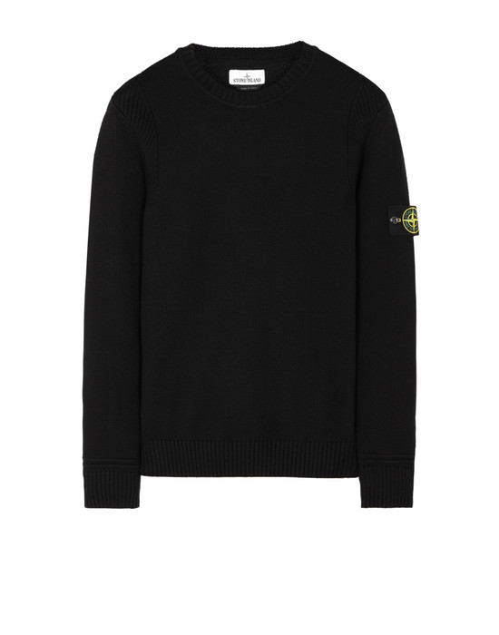 STONE ISLAND 528A2 Sweater Man Black