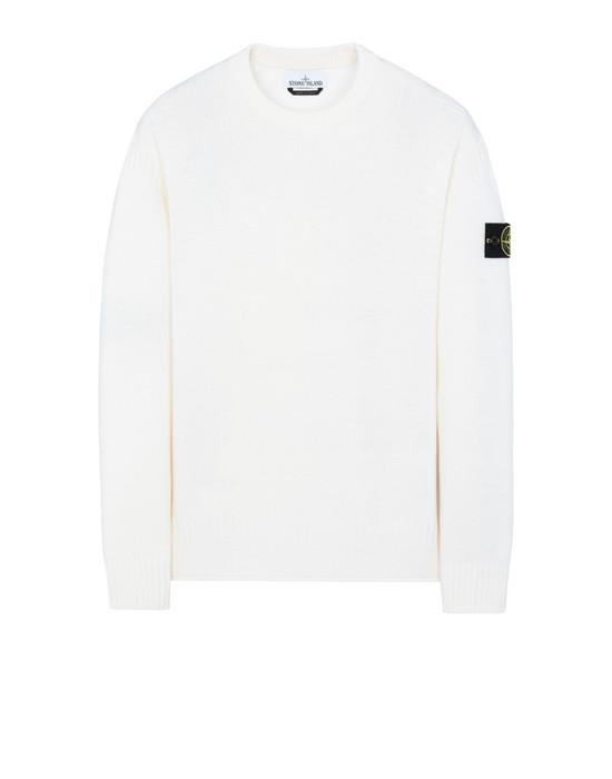 STONE ISLAND 519B6 Sweater Man Natural White