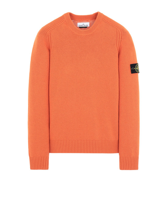 STONE ISLAND 552A3 Sweater Man Orange