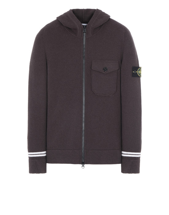 STONE ISLAND 539A3 Sweater Man Dark Brown