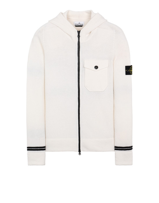 STONE ISLAND 539A3 Sweater Man Natural White