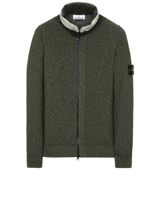 STONE ISLAND 579D1 Sweater Man Olive Green