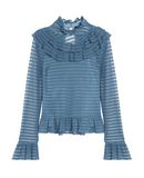 NICHOLAS Damen Rollkragenpullover Farbe Blaugrau Größe 4