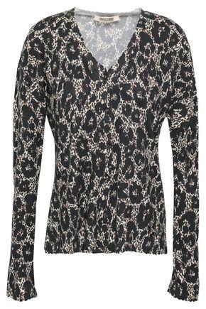 ROBERTO CAVALLI Leopard-print knitted cardigan