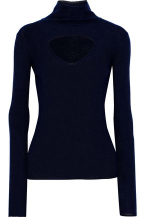 TEMPERLEY LONDON Gravity cutout merino wool turtleneck sweater