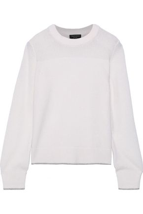 RAG & BONE Yorke open knit-paneled cashmere sweater