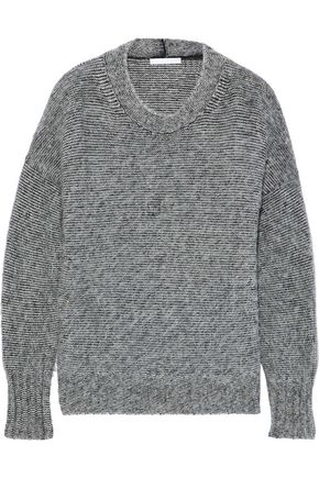 HELMUT LANG Mélange brushed knitted sweater