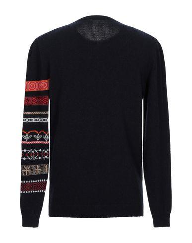 Фото 2 - Мужской свитер DANIELE ALESSANDRINI HOMME темно-синего цвета