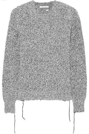 HELMUT LANG Distressed mélange knitted sweater