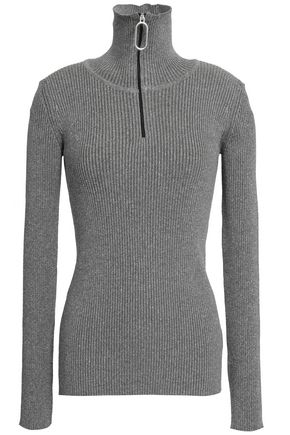MARKUS LUPFER Metallic ribbed-knit turtleneck sweater