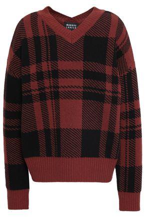 MARKUS LUPFER Checked wool-jacquard sweater