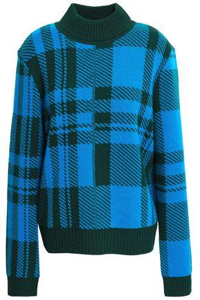 MARKUS LUPFER Lula checked wool-jacquard sweater