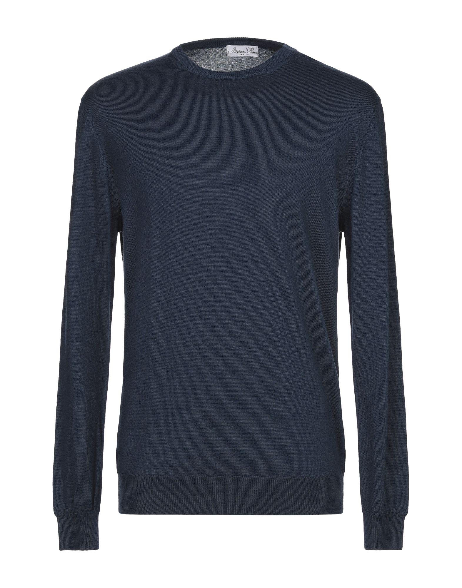 《期間限定セール中》ANDREA PIRAS メンズ プルオーバー ブルー XL ウール 60% / アクリル 40%