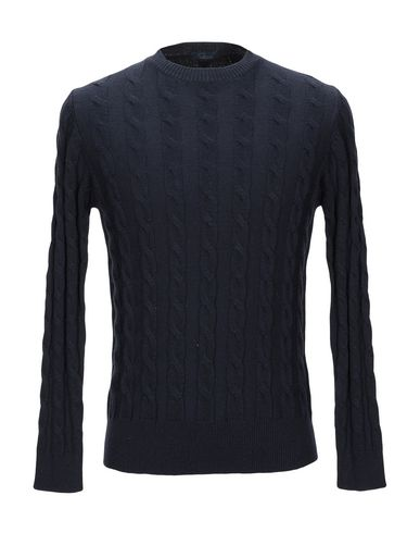 Фото - Мужской свитер BLU CASHMERE темно-синего цвета