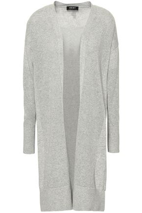 DKNY Pointelle-knit cotton-blend cardigan