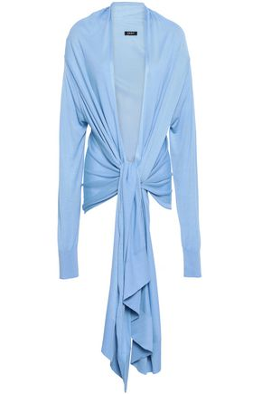 DKNY | Dkny Tie-Front Knitted Cardigan | Goxip