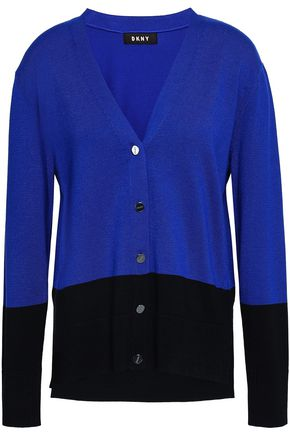 DKNY Two-tone knitted cardigan