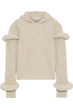 J.W.ANDERSON Ribbed wool and alpaca-blend hoodie