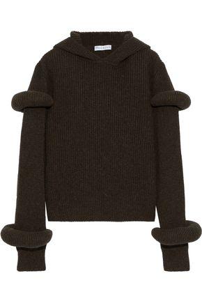 J.W.ANDERSON Ribbed wool and alpaca-blend hoodie