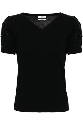 CO Beaded wool and cashmere-blend top