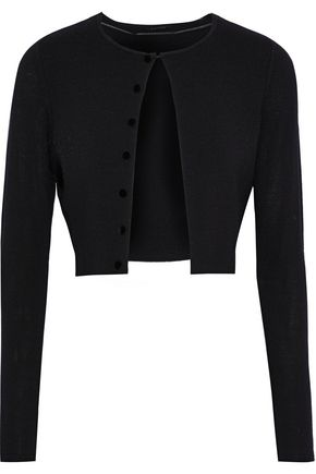 ELIE TAHARI Rosie cropped button-embellished wool cardigan