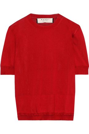 MARNI Layered silk top